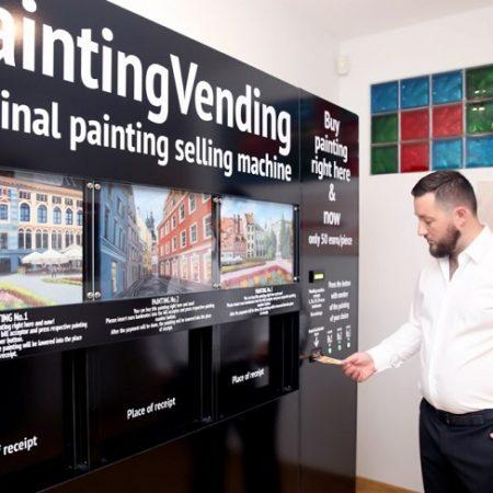 В Риге установят вендинг автоматы по продаже картин